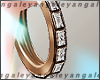 A | Gold diamond creole