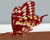 animated red butterfly