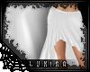 [*L] Long Skirt | white
