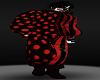 BLACK RED CLOWN PANTS M