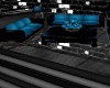 Black & Blue Sofa Set