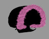 [BRI] Fur Hood Blk Pink
