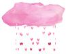 pink falling heart cloud
