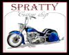 blue motorcycle bike