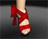 Red Satin Heels