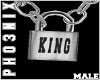 !PX KING LOCK NECKLACE