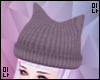 M| Grey Kitty Ear Hat