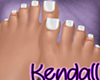*KT* Feet White Nails