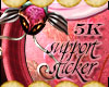 [E]5k Support Sticker