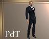 PdT Blk Suit Red Tie M