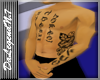 Male tattoo skin