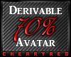 70% Avatar Derive