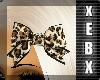 -Leopard Print Bow-