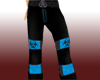 Blue Toxic Raver Pants