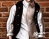 Black long vest.