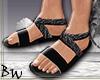 *BW* Black Sandals