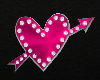 pink heart sign love