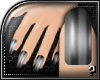 m.. Silver Stripes Nails