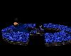 BLUE LEOPARD ROUND SOFA