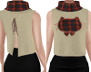 Red Plaid Kitty Top