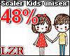 Scaler Kids Unisex 48%
