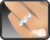 -S- White Pearl Ring