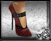 DD Plaid Heels Red