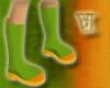 Green/Orange Boots