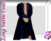 Blue Satin Long Trench