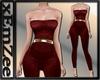 MZ - Velvet Bodysuit Red