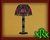 Glass Lamp Pink Rose