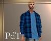 PdT Turq Plaid Shirt&T M