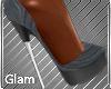 Grey Uptown Heels