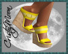 *CM*GRETA WEDGES-YELLOW