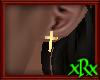 Cross Earring gold