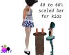 kids scale wooden bar