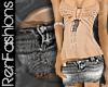 $R Grey Mini Skirt -Jean