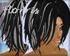 F> Black/Grey Hair