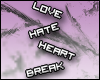 (*P*) lovehateheartbreak