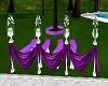purple wedding pedestal