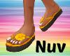 Orange Hawaii Flip Flops