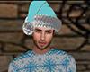 Light Blue Santa Hat (M)