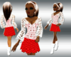 kali  sweater skirt red