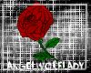 [A]Red Rose Sticker~Left