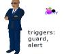bodyguard navy suit