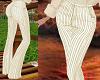 TF* Cream Stripe Pants