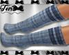 Blue Gym Knee Socks