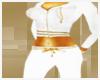 ~J~ Gold n white hoodie