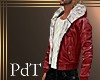 PdT Red Leather Jacket M