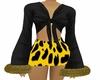 Leopard Fur Blouse Set